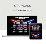 Test Prep Review - Star Wars Theme Algebra Jeopardy Game - Editable