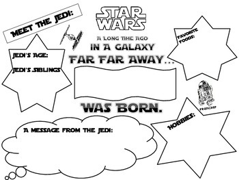 Star Wars Theme All About Me Student Poster