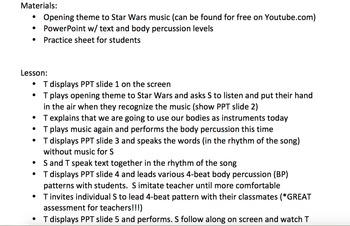 Star Wars Theme Body Percussion Lesson