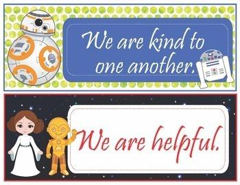 Star Wars Theme Class Rules - EDITABLE