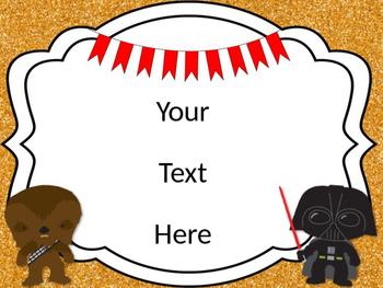 Star Wars Theme Classroom Posters {EDITABLE}