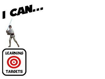 Star Wars Theme Learning Target Mini Posters I Can 8 different