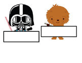 Star Wars Theme Name Tag Labels - Back to School