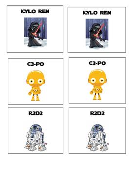 Star Wars Theme Partner Picking Cards