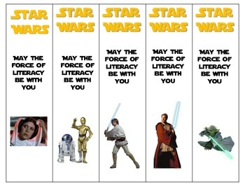 It is a photo of Accomplished Star Wars Bookmarks Printable