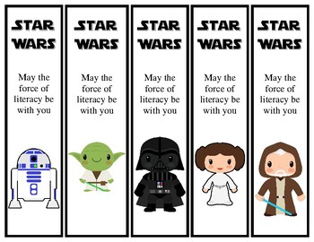 Magic image for star wars bookmarks printable