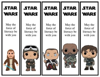 Star Wars Theme Printable Bookmarks 30 different