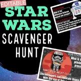 EDITABLE Star Wars Theme Scavenger Hunt for Any Subject