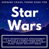Star Wars Theme Song Color-Coded Guide/Sheet Music for Boomwhacker/Orff Ensemble