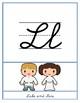 Star Wars Theme Word Wall Alphabet ABC Handwriting Lined Penmanship Editable