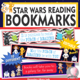 Star Wars Decor Bookmarks, Shelf Markers or Desk Name Plates - EDITABLE