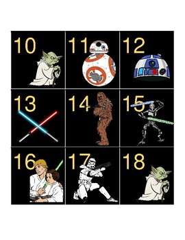 Star Wars Themed Calendar