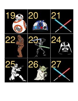Star Wars Themed Calendar