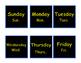 Star Wars Themed Calendar, Birthday Chart & Passes