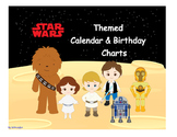 Star Wars Themed Calendar, Birthday Chart & Passes