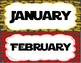 Star Wars Themed Calendar Month Labels