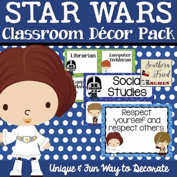 Star Wars Themed Classroom Decor Pack EDITABLE