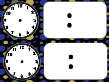 Star Wars Themed Classroom Schedule Cards (Black Polka Dot)