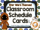 Star Wars Themed Classroom Schedule Cards (Blue Polka Dot)
