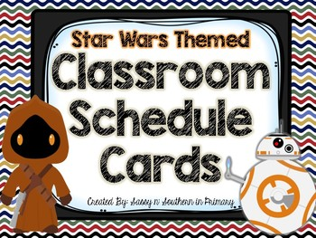 Star Wars Themed Classroom Schedule Cards (Chevron)