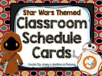 Star Wars Themed Classroom Schedule Cards (Red Polka Dot)
