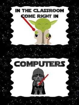 Star Wars Themed Classroom Signs