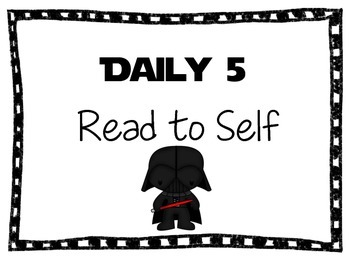 Star Wars Themed Daily 5 Signs