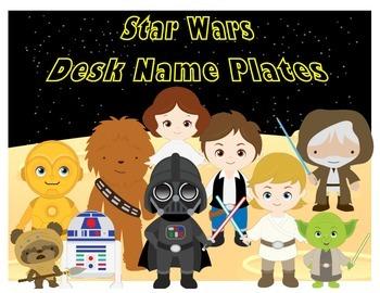Star Wars Themed Desk Name Plates