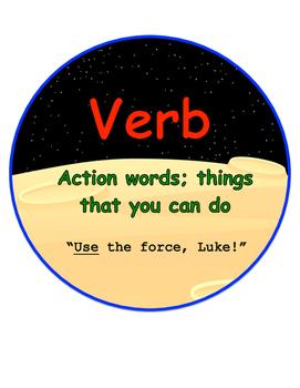 Star Wars Themed Grammar Buttons
