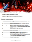 Star Wars Themed Grammar Practice with Phrases and Clauses