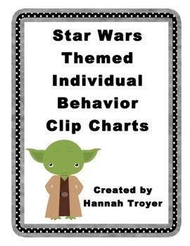 Star Wars Themed Individual Behavior Clip Charts