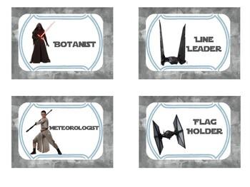 Star Wars Themed Job Chart