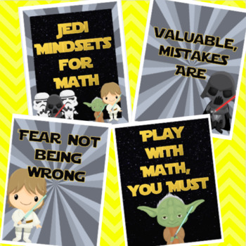 Star Wars Themed Mathematical Mindsets Posters