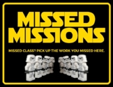 """Star Wars - Themed """"Missed Missions"""" Absent Student Work Poster"""