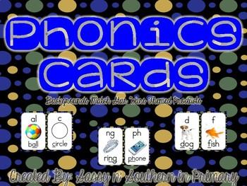 Star Wars Themed Phonics Cards (Black Polka Dot)