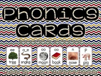 Star Wars Themed Phonics Cards (Chevron)