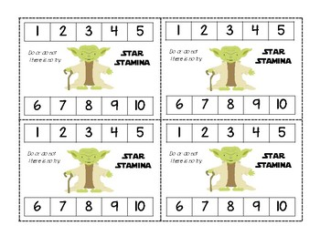 Star Wars Themed Punchcard