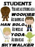 Star Wars Themed Student Print
