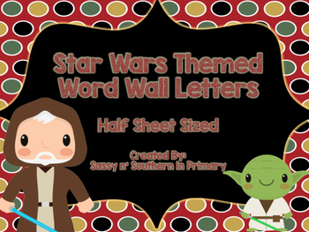 Star Wars Themed Word Wall Letters (Red Polka Dot)