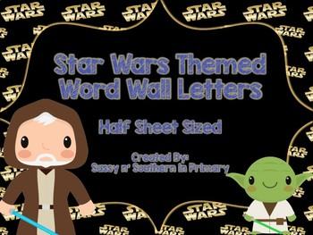Star Wars Themed Word Wall Letters (Star Wars Logo)