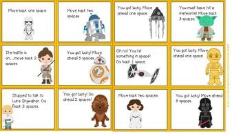 Star Wars Third Grade Dolch Words Game Board