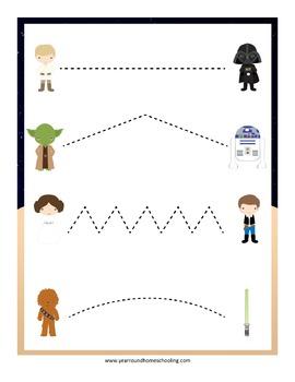 Star Wars Tracing Activities