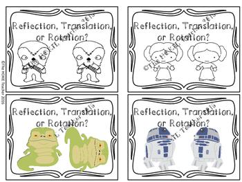 Star Wars Transformation Task Cards