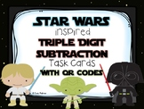 Star Wars 3 Digit Subtraction Task Cards w/QR Codes UPDATE