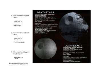 Star Wars Volume of Spheres
