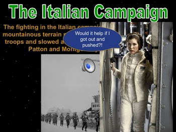 Star Wars WWII Allies Enter Africa & Italy PowerPoint & Notes Bundle