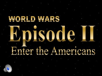 Star Wars WWII Allies Enter Africa & Italy PowerPoint & No