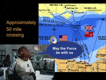 Star Wars WWII Dday & Allied Victory in Europe PowerPoint & Notes Bundle