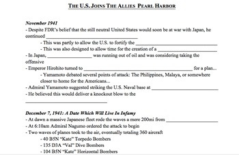 Star Wars WWII PowerPoint & Notes Bundle
