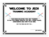 Star Wars Welcome Certificates